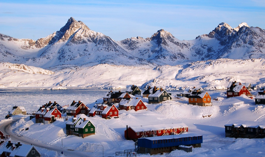 Town of Tasiilaq on East Greenland