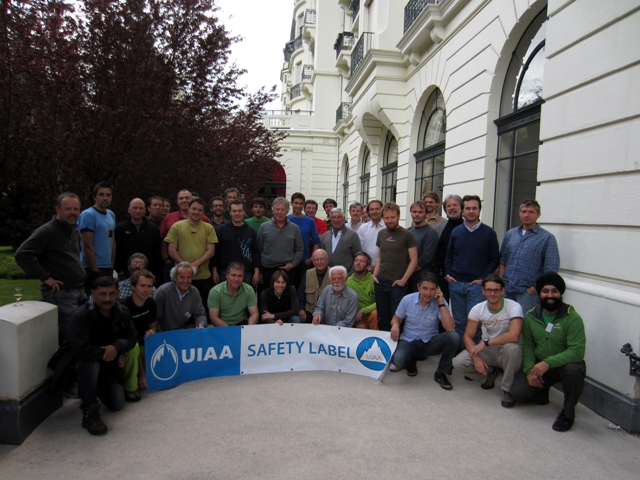 Adventure Nation Guru Amit Chowdhury with the other UIAA members at Chamonix, France