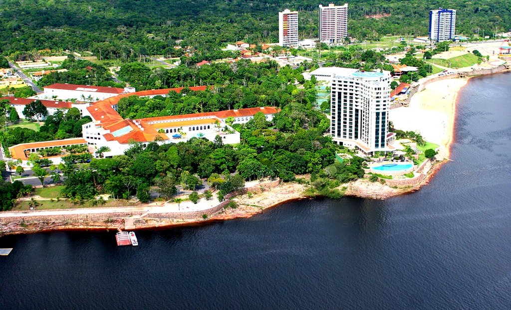 City of Manaus by Amazon River in Brazil