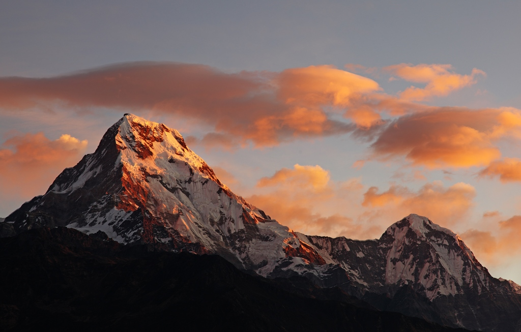Majestic view of the Annapurna