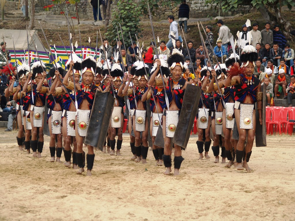 Dance performance at the Hornbill Festival