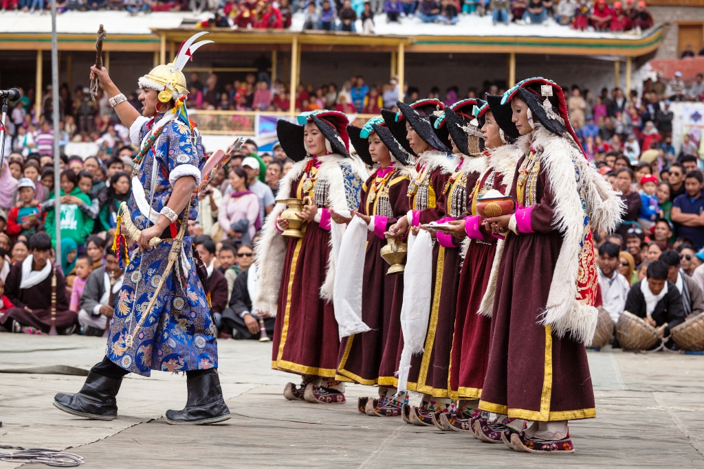 celebration at hemis festival