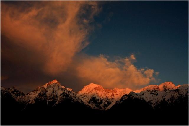 Mesmerizing Sunset at Kalpa