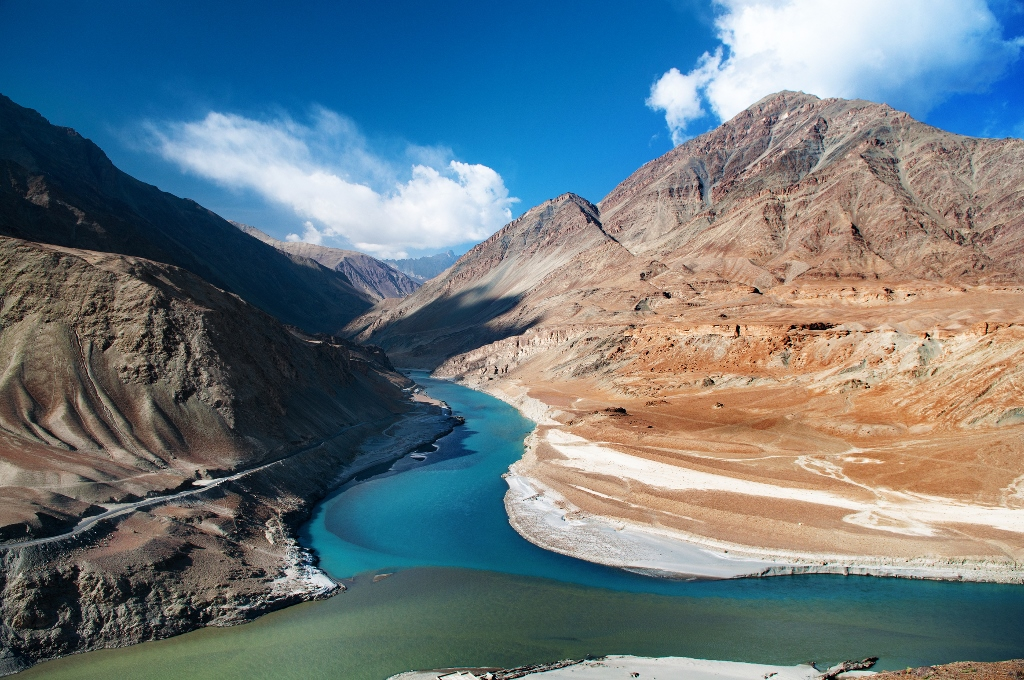 So surreal! Indus zanskar Confluence Ladakh