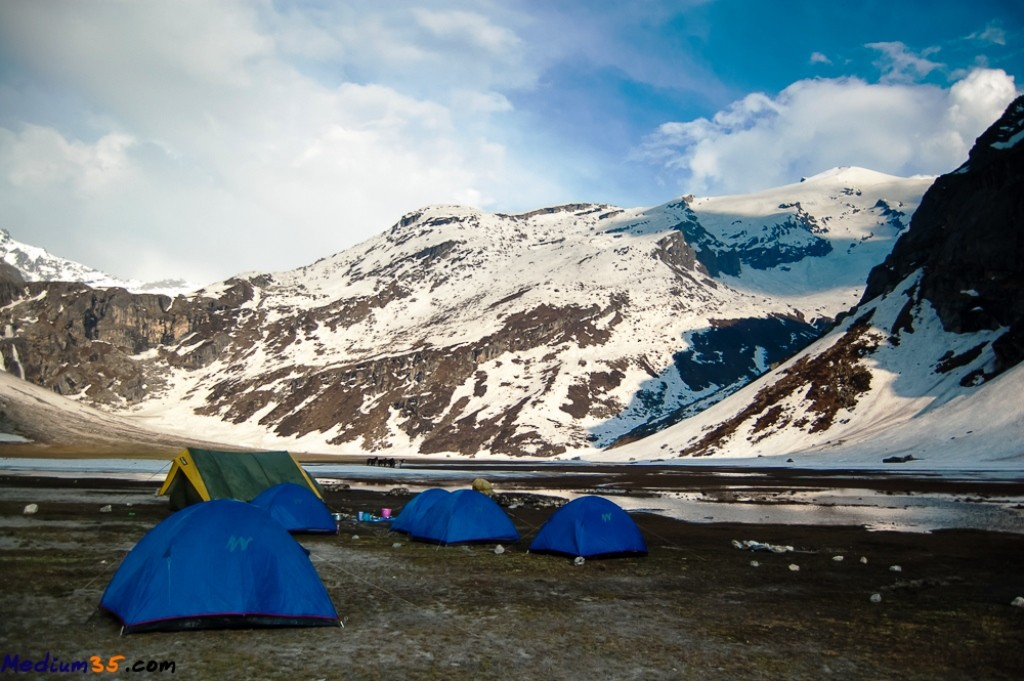 Camping experience during the Deo Tibba Trek