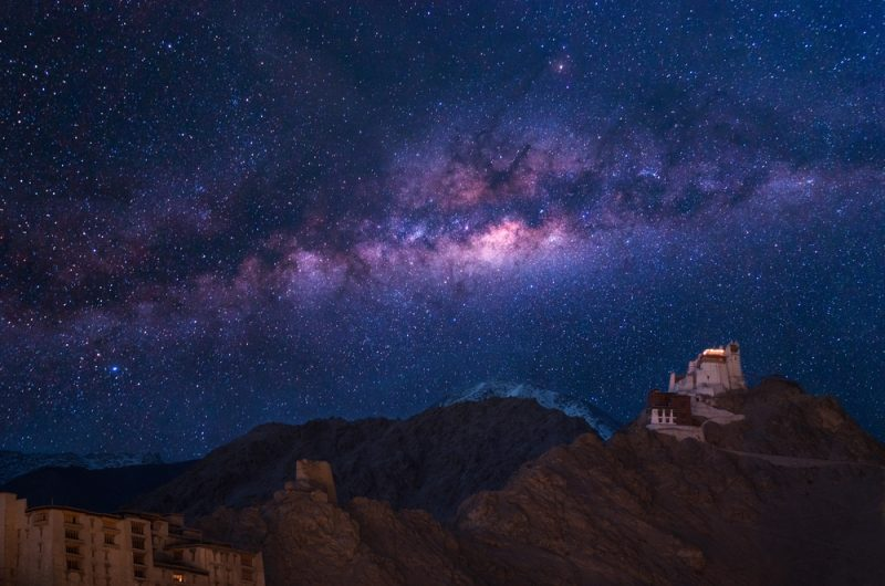 A starry night in Ladakh