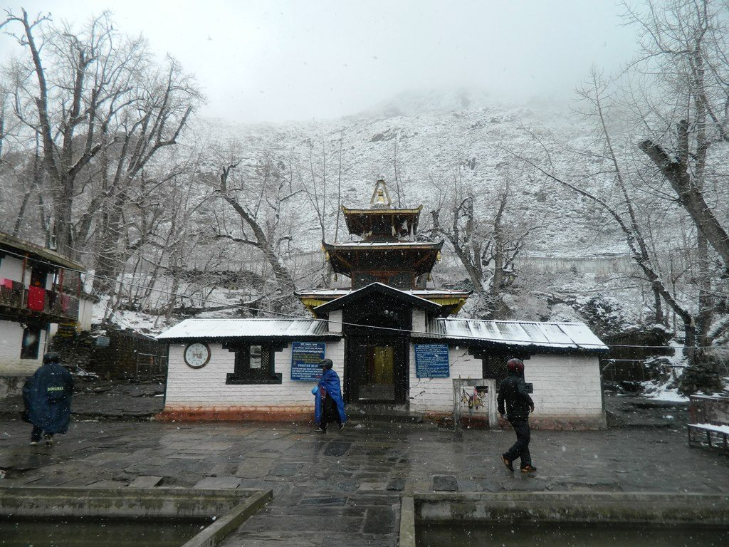 Muktinath Temple in the snow