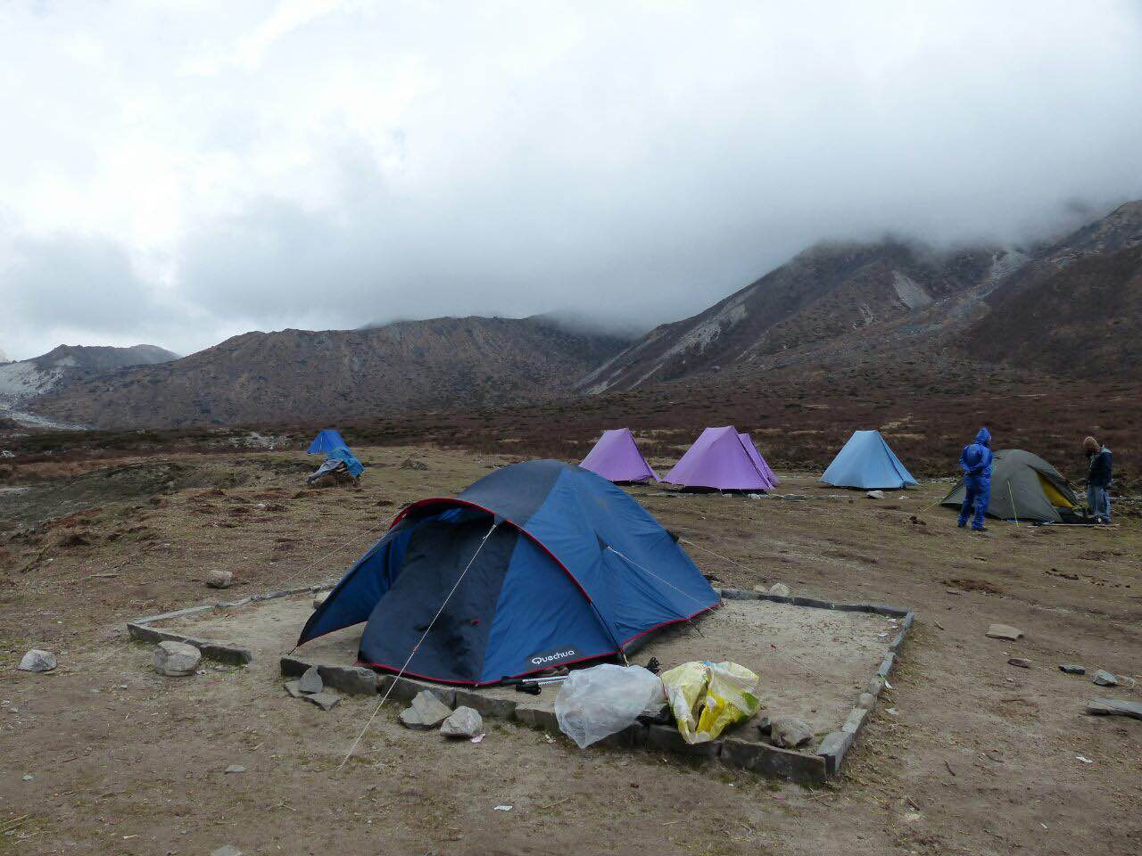 Camping on the Goecha La trek