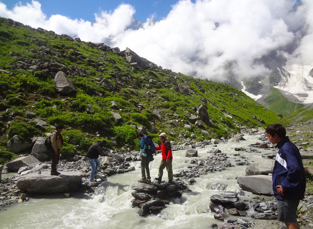 Beas Kund River Crossing