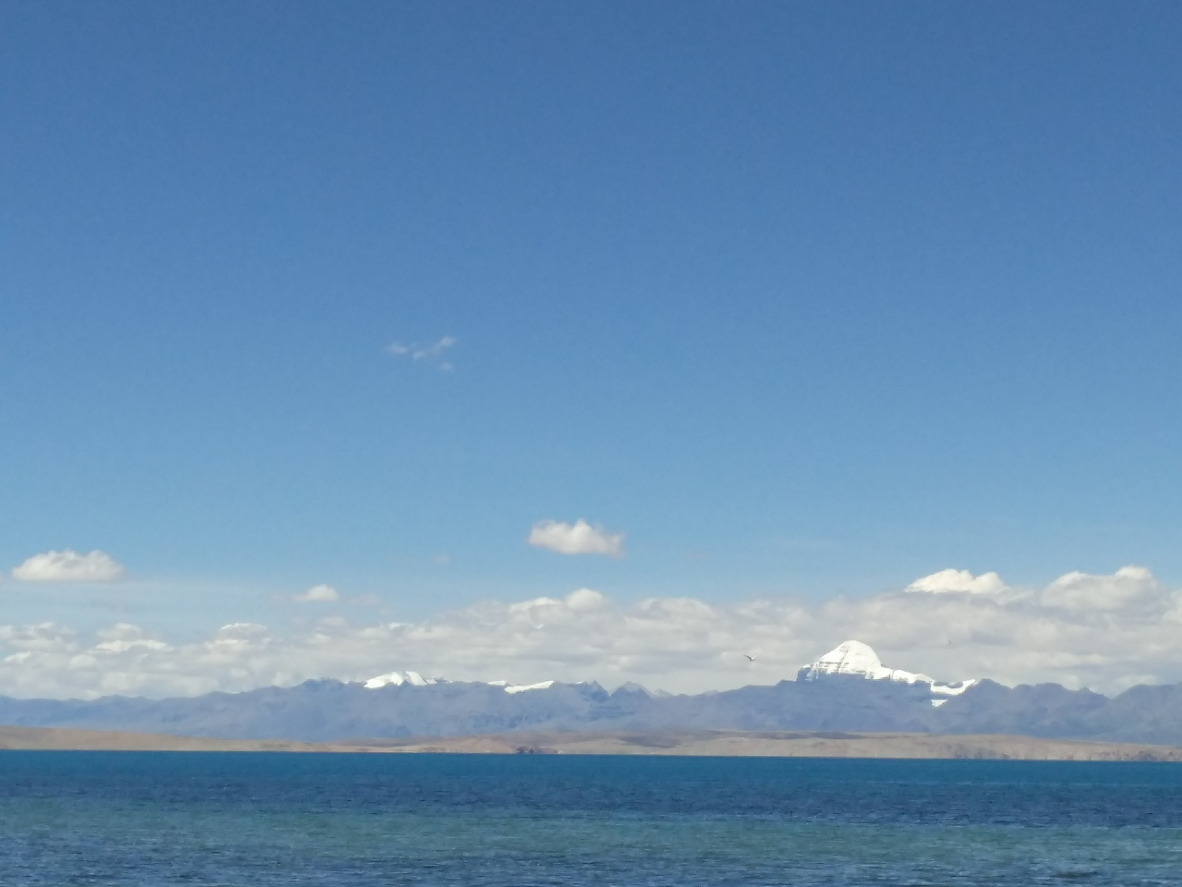 Lake Mansarovar--- glistening and glowing