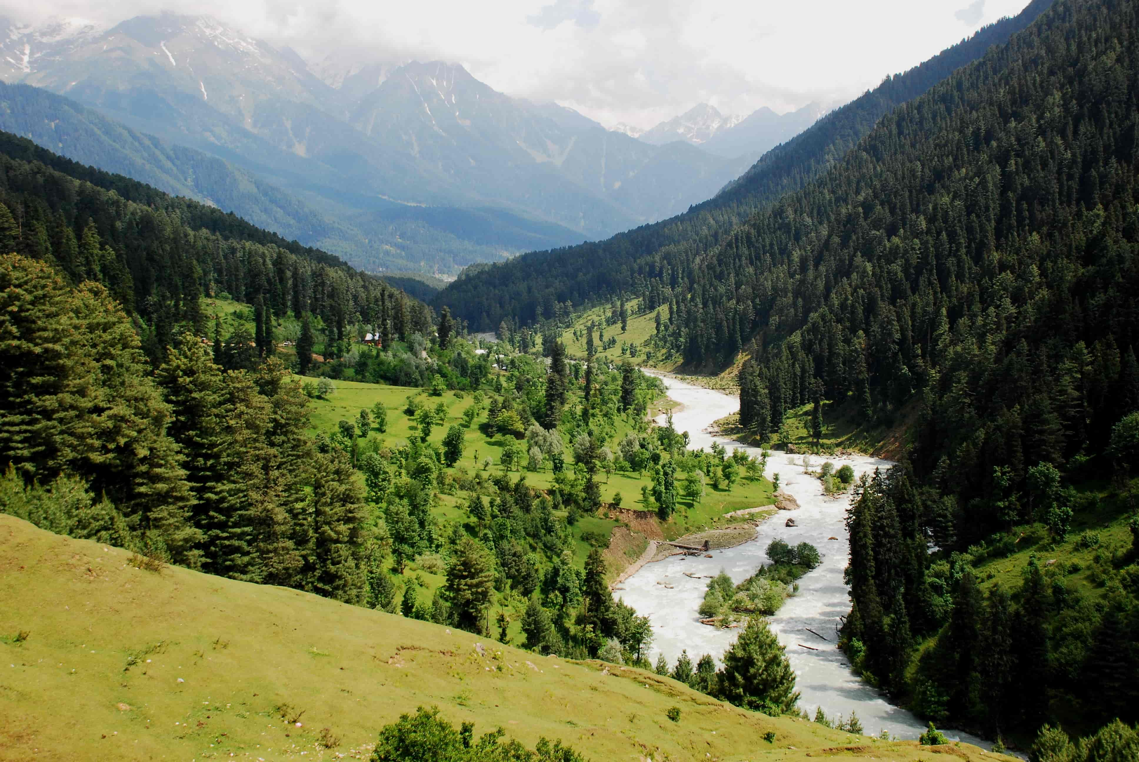 Lidder River Valley in Pahalgam, Kashmir