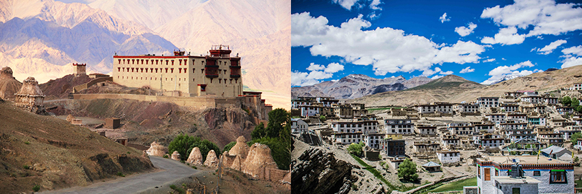 Leh-Castle-and-Kibber Village